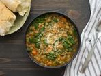Френска супа с леща и спанак