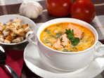 Супа от сьомга и зеленчуци