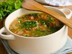 Супа с месо и спанак