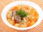 Супа с месо, картофи и прясно зеле