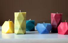 Оригинални ръчно изработени геометрични свещи