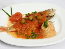 Риба треска с чили сос