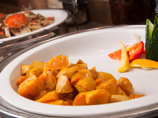 Сладки картофи с меден сос