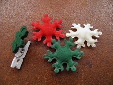 Как да си направим коледни играчки от филц?
