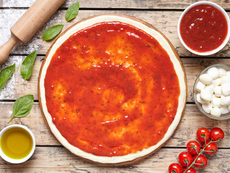 Доматен сос за пица с чесън