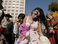 Демонстрации по гримиране по случай Хелоуин в София