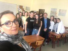 Гергана Венкова и Златимир Йочев с лекция пред студенти