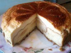 Торта с крем карамел и кроасани