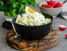 Картофена салата с репички