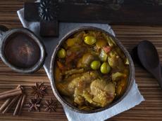 Пиле с шафран по марокански