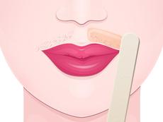 Хитра маска за премахване на окосмяване около устните