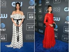 Обявиха роклите на Нина Добрев и Оливия Мън за модна катастрофа
