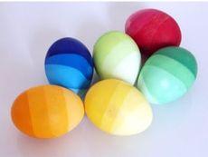"""Раирани великденски яйца """"Цветна дъга"""""""