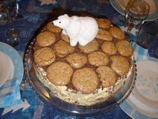 Торта с крем кафе