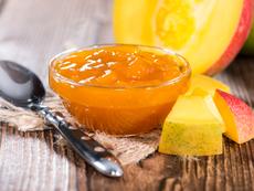 Конфитюр с манго и праскови