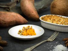 Касерола със сладки картофи и орехи