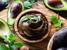Пудинг с авокадо, ванилия и канела