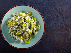 Броколи с ориз и яйца