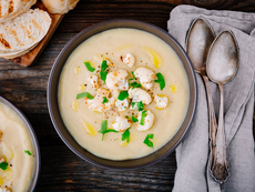 Супа с печен карфиол и шери