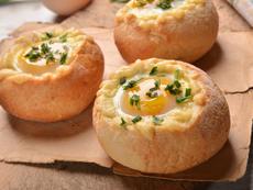 Пълнени питки с шунка и яйца