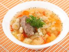 Супа с телешко и зрял фасул