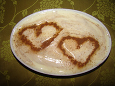 """Бисквитена торта """"Обичам те"""""""