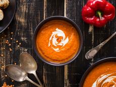 Крем супа от червени сладки чушки