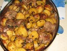 Пилешки дробчета с картофи и левурда