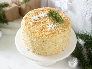 Коледна торта с богат крем по италианска рецепта