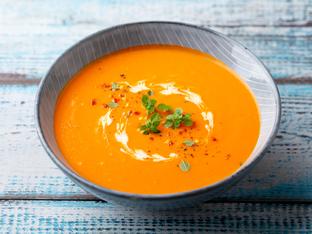 Супа със сладки картофи и тиква