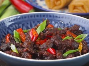 Глазирано телешко със зеленчуци и сос