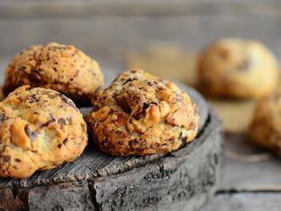 Бисквити с овесени ядки и касис