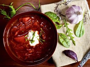 Украинска супа с цвекло