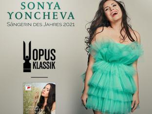 Соня Йончева спечели наградата певица на годината в Европа