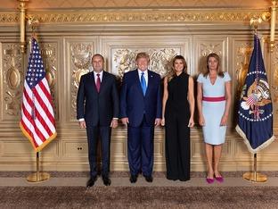 Румен Радев и Десислава се снимаха с Тръмп и Мелания