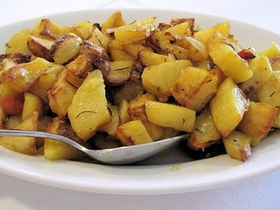 Печени картофи с подправки по кипърски