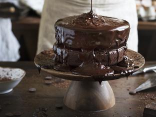 Двойно шоколадов кекс с глазура