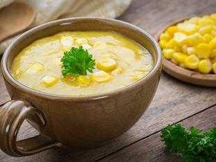 Веган крем супа с царевица