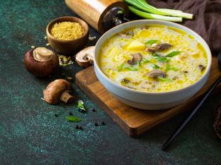 Гъбена супа с ориз и картофи