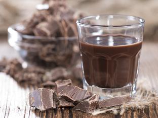 Домашен ликьор с течен шоколад