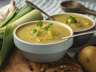 Крем супа с праз и картофи