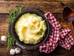 Картофено пюре с крема сирене