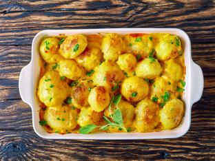 Пресни картофи със сирена
