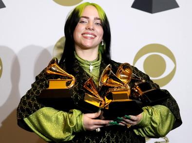 """Били Айлиш е големият победител на 62-ите награди """"Грами"""""""