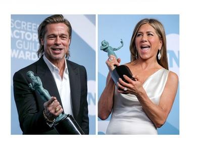 Дженифър Анистън и Брад Пит с награди от Актьорската гилдия