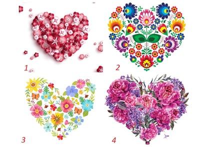 Изберете си цветно сърце и вижте какви сте в любовта