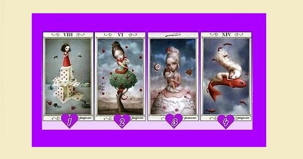Пред вас има 4 красиви карти. Изберете една от тях