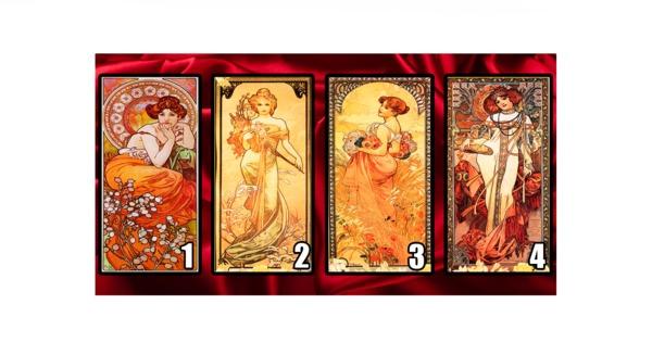 Пред вас има 4 карти с красиви жени. Зад всяка