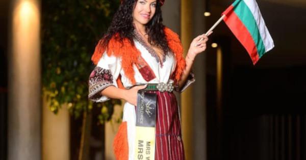 Лидия Янева, която стана носителка на титлата Мисис България Worldwide