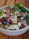 Салата с броколи, карфиол и бекон